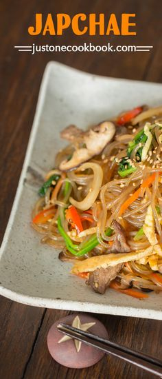 Japchae - Korean Stir Fried Noodles | Easy Japanese Recipes at JustOneCookbook.com