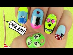 Nails, Nail Art Tutorial Employing a Toothpick! five Nails, Nail Art Types - http://rainbowloomsale.com/nails-nail-art-tutorial-employing-a-toothpick-five-nails-nail-art-types/