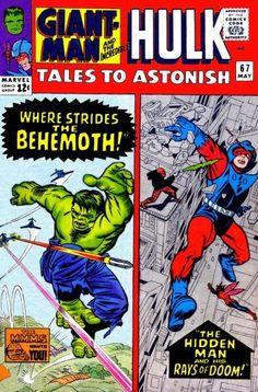 Tales To Astonish FN giant-man & the wasp - hulk by stan lee & steve ditko Hulk Marvel, Hulk Comic, Marvel Comic Books, Marvel Dc Comics, Marvel Heroes, Comic Art, Comic Book Pages, Comic Book Artists, Comic Book Covers