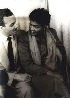 Pearl Bailey with her husband, John Randolph Pinkett in 1950, photo by Carl Van Vetchen. ""