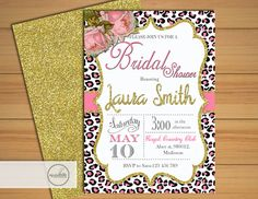 Animal Print Bridal Shower Invitation / by MyPrintableInvite