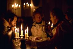 Stanley Kubrick, Hardy Krüger, and Ryan O'Neal in Barry Lyndon (1975)