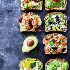 Happy weekend Breakfast is a delicious giant mish mash of avocado toast and fridge toppings that need to be used up! This is what happens when your kids plan a Mexican night two nights in a row and then watch movies instead of cooking Best Avocado Toast Recipe, Whole Food Recipes, Healthy Recipes, Healthy Food, Mexican Night, Mish Mash, Food Styling, Family Meals, Sushi
