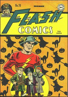Every day this month, Ill be posting a Halloween comic book cover! Flash Comics All covers from the Grand Comics Database . Dc Comic Books, Vintage Comic Books, Vintage Comics, Comic Book Covers, Comic Book Characters, Comic Art, Marvel Characters, Flash Comics, Dc Comics Art