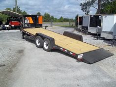 24' tilt deck gooseneck low profile trailer