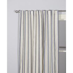 Sheet Curtains, Blue Striped Curtains, Striped Room, Drapery Panels, Window Panels, Pottery Barn Curtains, Walmart Home