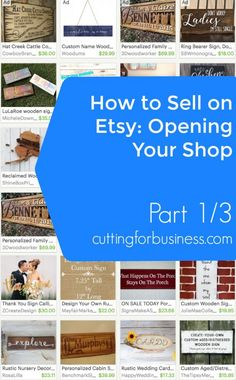 Selling Your Silhouette Cameo or Cricut Made Crafts on Etsy: Opening Your Shop (1/3) - by cuttingforbusiness.com