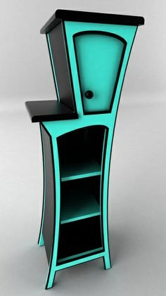 curvy cabinet 3d max - Curve Shelf by IgniteLab #HomeOwnerBuff