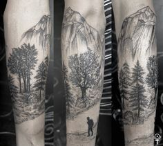 Nordic lands Made byGabor Zolyomi at Fatum Tattoo, Budapest. Instagram: zolyomi_
