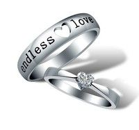 Fashion endless love Couples Rings