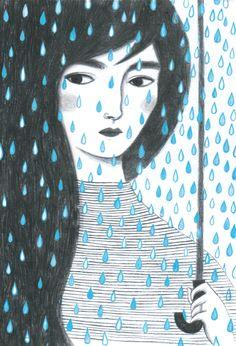 http://giuliatomai.blogspot.it/ rain illustration