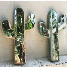 Cactus mirrors by @eitherwayla  || geo-fleur.com #geofleur ||