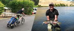 Fishing with a Travoy near Bend, Oregon. Bike Cargo Trailer, Cargo Trailers, Burley Travoy, Travel Tours, Touring, Oregon, Cycling, Fishing, Traveling