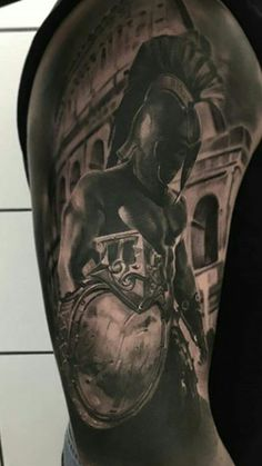 Get your dividends daily Cool Shoulder Tattoos, Mens Shoulder Tattoo, Lion Tattoo Sleeves, Full Sleeve Tattoos, Life Tattoos, Body Art Tattoos, Tattoos For Guys, Tattoo Guerreiro, Armor Of God Tattoo