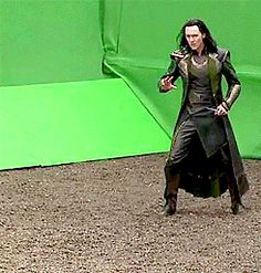 Huh, so this is what it really looks like when they're filming... Never underestimate the power of a green screen!