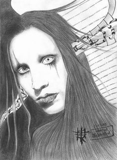 Marilyn Manson - Painting by Twiggisha Mamedova in TwiART\ My STARS 2010-2013 at touchtalent
