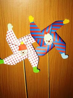 Kindergarten, My First School: Clown As . - Kindergarten, my first school: Clowns funny and colorful - Clown Crafts, Circus Crafts, Carnival Crafts, Circus Art, Carnival Themes, Circus Theme, Projects For Kids, Diy For Kids, Art Projects