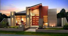 10 diseños de fachadas de  casas modernas de un piso, exclusiva selección de estructuras