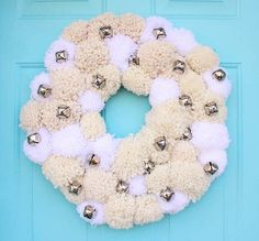 Pottery Barn-Inspired Silver Bells Wreath | This festive DIY project is great for the holiday season!