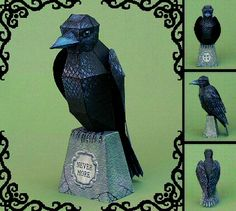 THE RAVEN (a free papercraft model)   Thank you Ray O'Bannon from RavensBlight for the free printables!