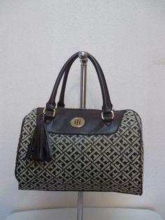 Bag Tommy Hilfiger Handbags Satchel 6929415 202 Brown Beige Gold Retail $ 79.00 #TommyHilfiger #Satchel