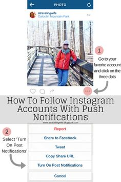 How to follow Instagram accounts with push notifications