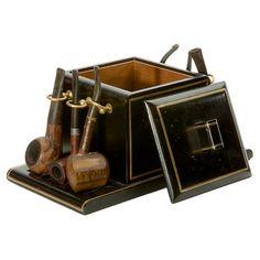 Vintage Smokebox & Pipes Set