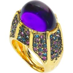 Crystal Pavé Ring by Kenneth Jay Lane