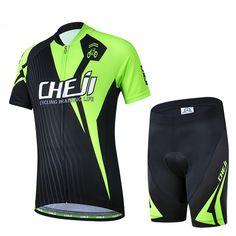 CheJi Children Cycling Jersey New Black-Green Cycling Clothing Bike Bicycle Short Sleeve Jersey  For Kids M-XXL #Affiliate