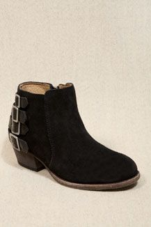 H By Hudson Black Enkle Buckle Boots