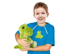 Boy's Port-Accessible Shirt & Dinosaur Gift Set by Comfy Chemo - Long or Short Sleeve - Survivor Room