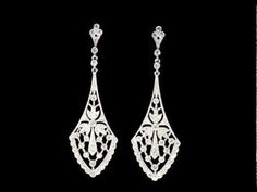Rent the Miles Diamond Chandelier Earrings for $150 but save 10% using promo code: pinterest10 - Adorn Brides - Adorn.com - YouTube