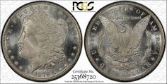 1879-CC S$1 PCGS MS 65+ PLUS PL #4293  Monster PL 79-CC Coin. Maybe the nicest 79-CC on this planet. Very PL fields, nice contrast , clean cheek. There are 2 ms66 coins, and I can't imagine that either of them looks as nice as this coin. Pop 1 monster. Opportunity here. I would not blink if I saw this coin in a 66 holder.CAC approved.