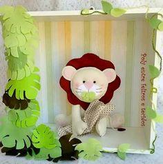 Nicho safari em feltro (leão)