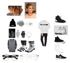 """""""Untitled #86"""" by queen-louisv ❤ liked on Polyvore featuring Converse, Almost Famous, ODD FUTURE, Stussy, Retrò, NIKE, Vans, Disney, Supra and Nixon"""