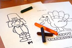 thanksgiving activity pages - for the kids table