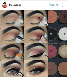 Step by step pictorial make-up look with LotusLuxe eyeshadow by . # Step by step pictorial make-up look with LotusLuxe eyeshadow by . Eid Makeup, Makeup 101, Makeup Inspo, Makeup Ideas, Makeup Salon, Makeup Studio, Makeup Style, Makeup Tutorials, Makeup Inspiration