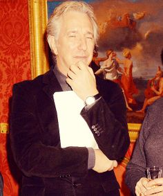January 30, 2008 - Alan Rickman at the reception hosted by Harpercollins and English Pen for Doris Lessing to receive the Nobel Prize in Literature at the Wallace Collection in London, England. Photo: Dave M. Benett