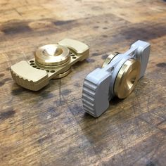 Keep you hands busy and your mind calm with this EDC fidget spinner. Small enough to keep in your pocket or spin with one hand. Precision CNC milled from billet aircraft grade aluminum 6061 and brass 360. Body is bead blasted to a matte finish. Finger pads have a machine finish. Two styles to choose: Aluminum body with brass finger pads Brass body with brass finger pads Dimensions: Overall 2.375 x 0.98 x .600 Weight: Brass-98 grams Aluminum-56 grams Bearing: 608