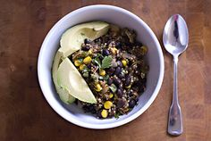 Quinoa with corn and black beans recipe... Can't wait to try this!!