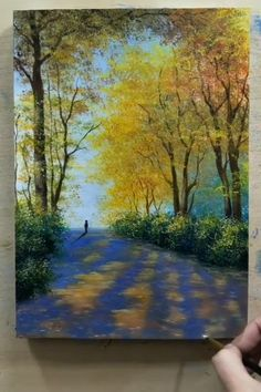 Easy Canvas Art, Small Canvas Art, Easy Canvas Painting, Acrylic Paintings, Art Paintings, Landscape Paintings, Landscape Art, Landscapes To Paint, Painting Abstract