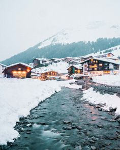 Snow-Covered Rooftops Via Finduslost Lech, Austria Has Some Of The Best Ski Resorts In Europe. Heres Everything You Need To Know To Organize An Incredible Winter Trip To Lech In The Austrian Alps. Navigate To Read The Full Guide. Austria Winter, Hallstatt, Best Ski Resorts, Best Skis, Austria Travel, Ski Austria, Winter Travel, Adventure Is Out There, Winter Scenes