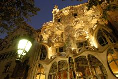 Casa Batllo by Gaudi in Barcelona, Spain Barcelona Architecture, Spanish Architecture, Beautiful Architecture, Beautiful Buildings, Places Around The World, The Places Youll Go, Places To See, Around The Worlds, Lonely Planet