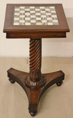 William IV Mahogany Chess Top Table