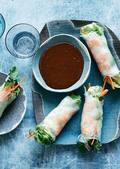 Avocado Shrimp Spring Rolls from www.whatsgabycooking.com - the perfect light and heathy lunch or dinner! (@whatsgabycookin)