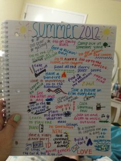 I should make a fun to-do list like this, instead of just making boring have-to-get-this-done to-do lists. Summer Diy, Summer Crafts, Summer Ideas, Cute Crafts, Crafts For Kids, Seasons Activities, Summer Bucket Lists, Letter Recognition, Real Simple