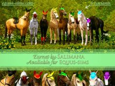 Download Sims 3 Horse Ranch | Equus-Sims Forum - Salimana's Quater Sheet & Earnet, Nalejn's sulky