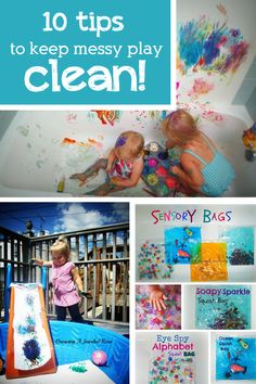 10 TIPS FOR KEEPING MESSY PLAY CLEAN
