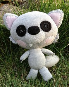 Mery-Jane / Vĺčko Ňuňulák Ale, Dinosaur Stuffed Animal, Teddy Bear, Dolls, Handmade, Stuff To Buy, Animals, Felting, Baby Dolls