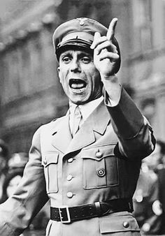 Socialism must be stopped! Joseph Goebbels, head of Germany's Ministry of Public Enlightenment and Propaganda. His masterful use of propaganda for Adolf Hitler and the NSDAP made him a prototype of the modern spin doctor in public conscience. Nazi Propaganda, Indira Ghandi, Joseph Goebbels, Grand Chef, Foto Portrait, Total War, The Third Reich, World War Two, Wwii